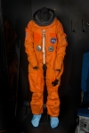 A Launch Entry Suit for the Space Shuttle. Smithsonian NASM photograph.