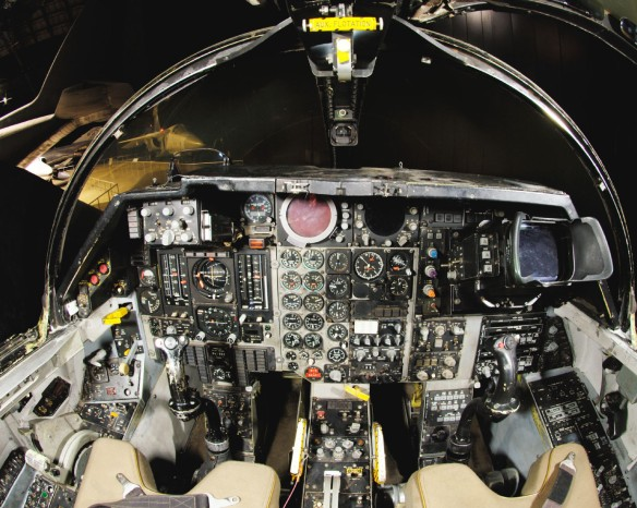 General Dynamics F-111F cockpit at the National Museum of the United States Air Force. (U.S. Air Force photo)