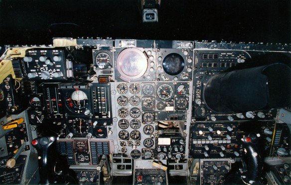 General Dynamics F-111A cockpit at the National Museum of the United States Air Force. (U.S. Air Force photo)