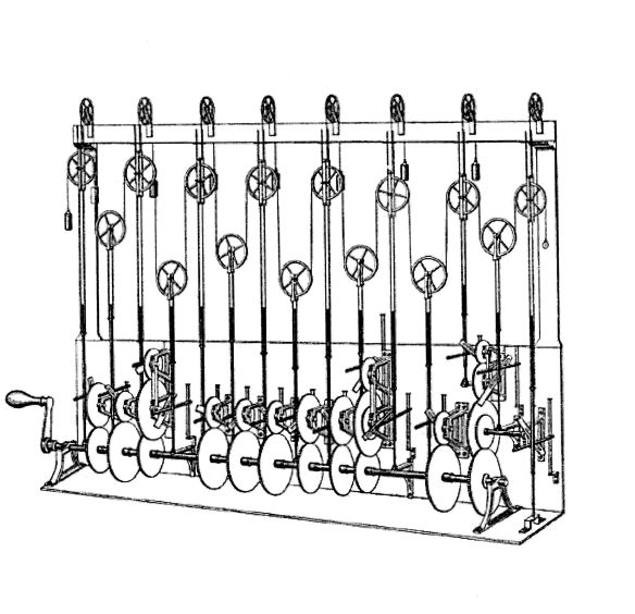 Thomson's design sketch for the third tide-predicting machine, 1879. Image courtesy Wikimedia.